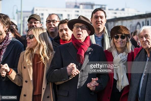 Festival director Dieter Kosslick USBritish actress Sienna Miller Tunisian Producer Dora Bouchoucha Fourati Dutch director Paul Verhoeven and other...