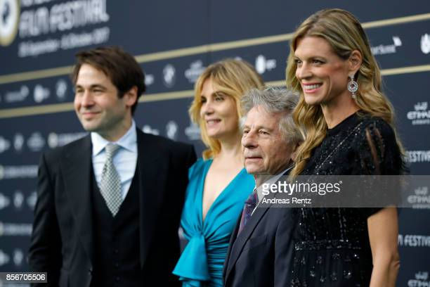 Festival director Karl Spoerri Emmanuelle Seigner Roman Polanski and Festival director Nadja Schildknecht attend the 'D'apres une histoire vraie'...