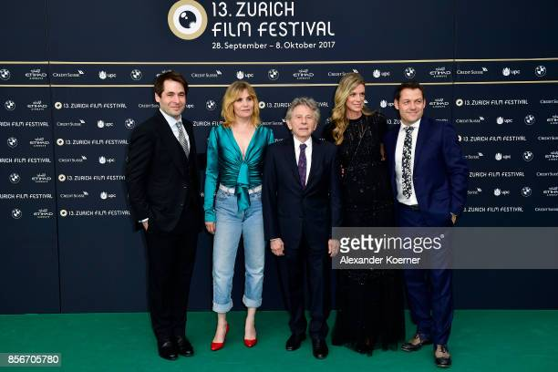 Festival director Karl Spoerri Emmanuelle Seigner Roman Polanski Festival director Nadja Schildknecht and Peter Schaumlechner attend the 'D'apres une...