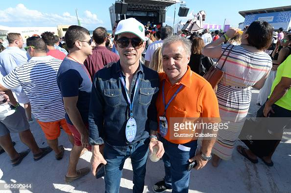 Festival director Lee Schrager and guest attend Goya Foods' Grand Tasting Village Featuring Mastercard Grand Tasting Tents KitchenAid Culinary...