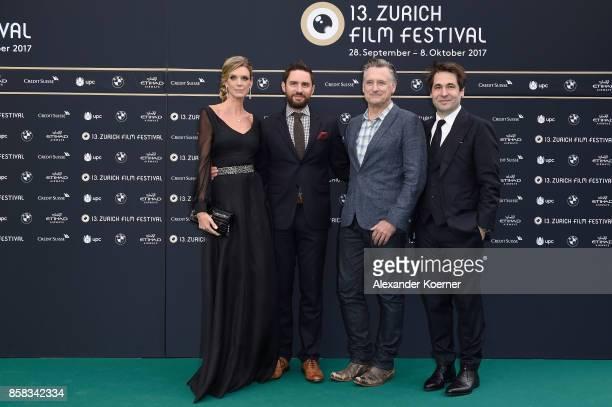 Festival director Nadja Schildknecht director Jared Moshe actor Bill Pullman and Festival director Karl Spoerri attend the 'The Ballad of Lefty...