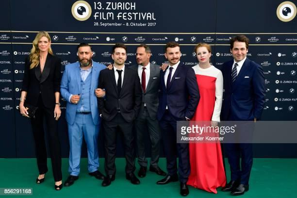 Festival director Nadja Schildknecht Kida Khodr Ramadan Oezgur Yildirim Moritz Bleibtreu Edin Hasanovic Birgit Minichmayr and Festival director Karl...