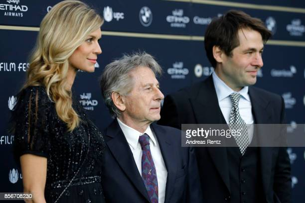 Festival director Nadja Schildknecht Roman Polanski and Festival director Karl Spoerri attend the 'D'apres une histoire vraie' premiere at the 13th...