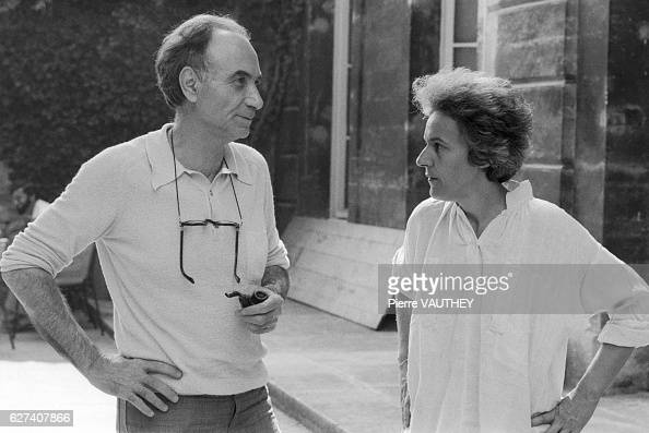 Festival director Paul Puaux and French theater director Ariane Mnouchkine converse at the 33rd annual Festival d'Avignon Puaux organized the theater...