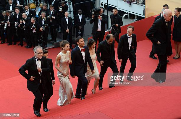 Festival director Thierry Fremaux actors Frederic Pierrot Geraldine Pailhas director Francois Ozon actors Marine Vacth Fantin Ravat and Chairman of...