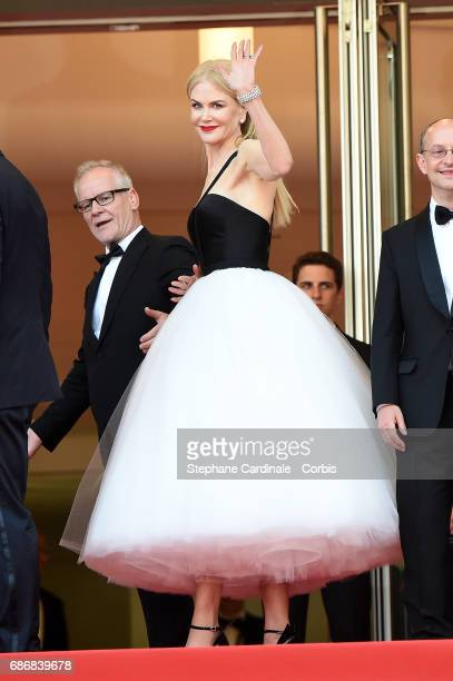 Festival director Thierry Fremaux and Nicole Kidman attend the 'The Killing Of A Sacred Deer' screening during the 70th annual Cannes Film Festival...
