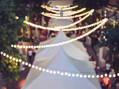 Festival Event Party Outdoor Blurred People Background Lights decoration