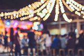 Festival Event Party Outdoor Carnival Blur People Background Lights decoration