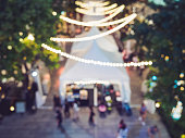 Festival Event Party Outdoor Blurred Lights decoration Background
