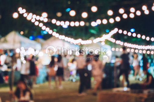 Festival Event Party with Hipster People Blurred Background : Stock Photo
