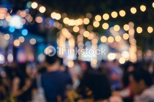 Festival de evento de fiesta con personas borrosa fondo : Foto de stock