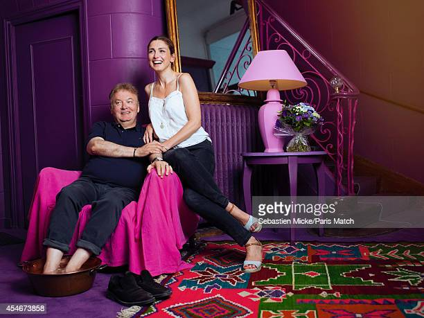 Festival founder Dominique Besnehard and actor Julie Gayet are photographed for Paris Match on August 22 2014 in Angouleme France