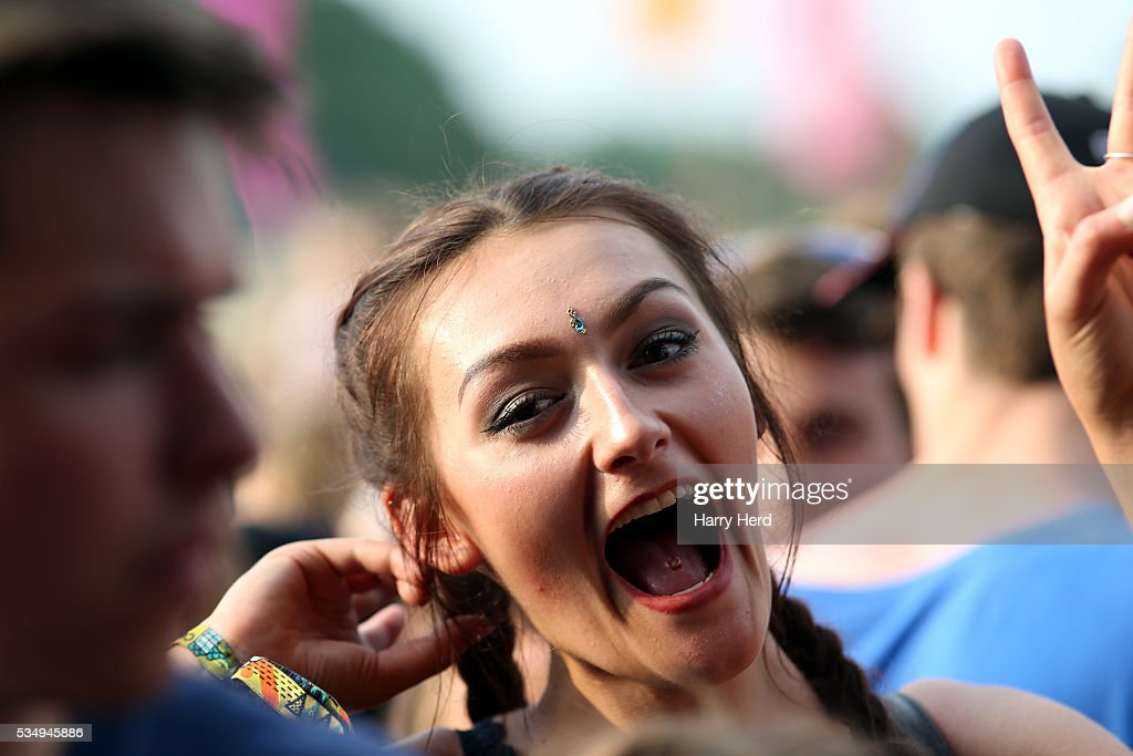 Festival goer enjoying Public Enemy as they perform at Common People Festival at Southampton Common on May 28, 2016 in Southampton, England.