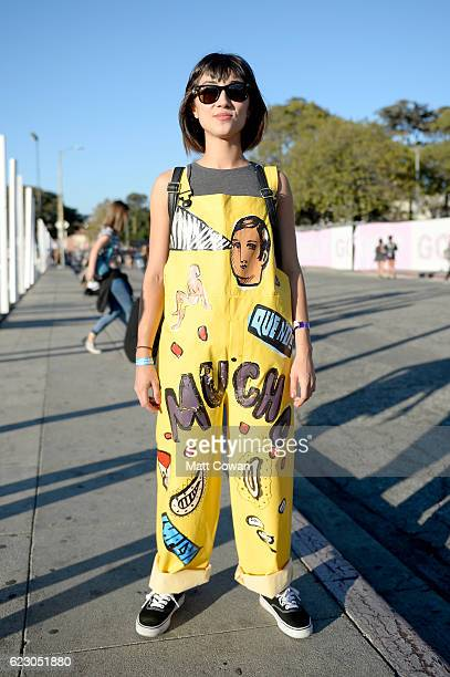 A festival goer is seen during day two of Tyler the Creator's 5th Annual Camp Flog Gnaw Carnival at Exposition Park on November 13 2016 in Los...