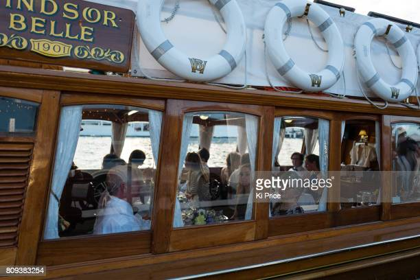 Festival goers at the Henley Festival on July 5 2017 in HenleyonThames England