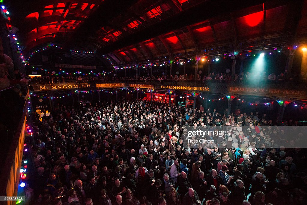 Festival goers attend A Concert for Bert Jansch at the Celtic Connections Festival at The Old Fruit Market on January 31, 2016 in Glasgow, Scotland.