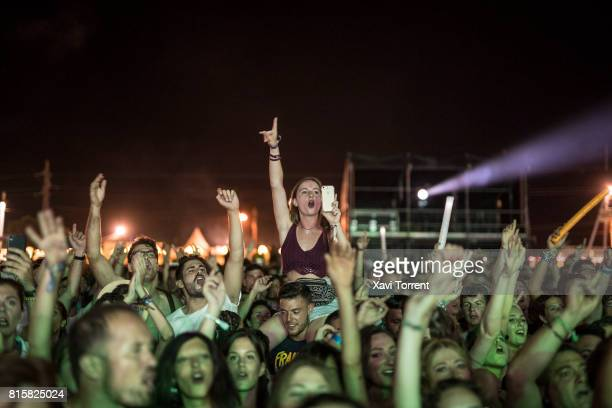 Festival goers attend day 4 of Festival Internacional de Benicassim on July 16 2017 in Benicassim Spain