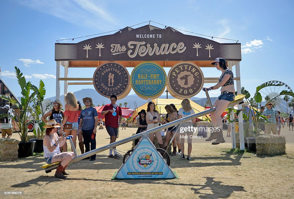 Festival goers attend The Terrace during 2016 Stagecoach California's Country Music Festival at Empire Polo Club on April 29, 2016 in Indio, California.