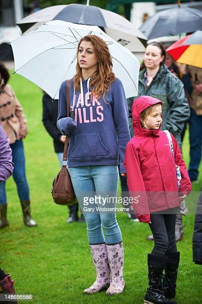 Festival goers endure the rain during Weston Party at Weston Park on June 3 2012 in Sheffield United Kingdom
