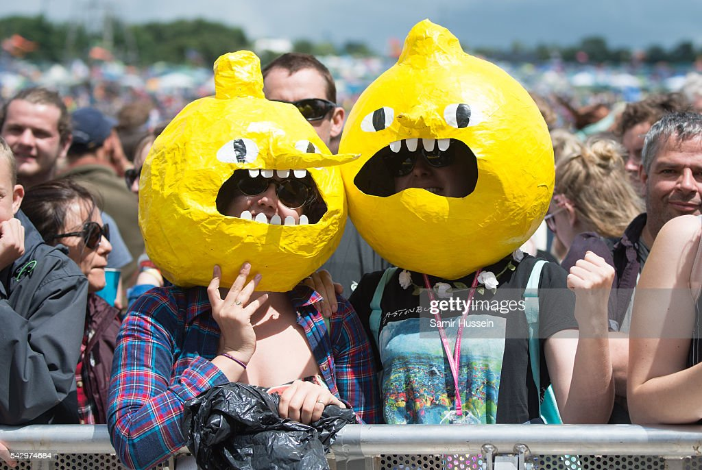 Festival goers enjoy Glastonbury Festival 2016 at Worthy Farm, Pilton on June 25, 2016 in Glastonbury, England.