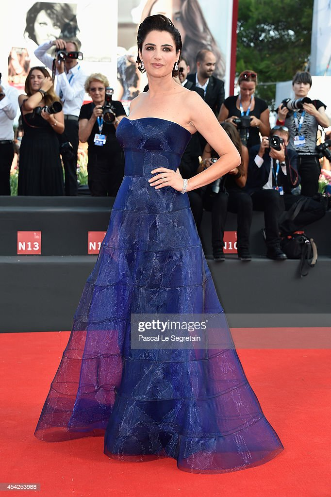 Festival hostess and actress Luisa Ranieri attends the Opening Ceremony and 'Birdman' premiere during the 71st Venice Film Festival on August 27 2014...