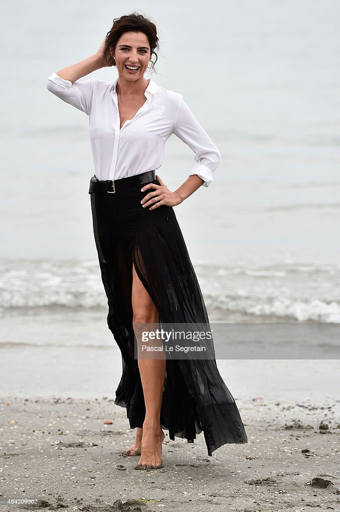 Festival hostess and actress Luisa Ranieri poses at a photocall during 71st Venice Film Festivalon August 26 2014 in Venice Italy