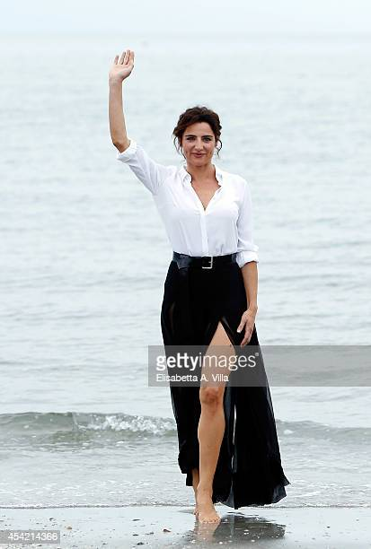 Festival hostess and actress Luisa Ranieri poses at a photocall during 71st Venice Film Festival on August 26 2014 in Venice Italy