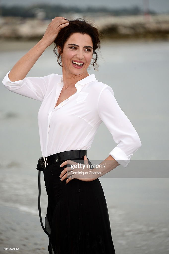 Festival hostess and actress Luisa Ranieri poses at a photocall during the 71st Venice Film Festival on August 26 2014 in Venice Italy