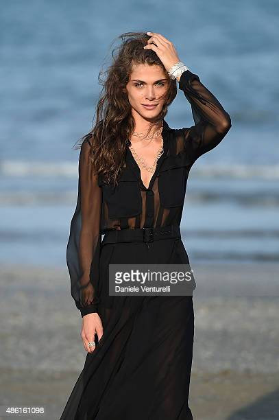 Festival hostess Elisa Sednaoui attends photocall during the 72nd Venice Film Festival on September 1 2015 in Venice Italy