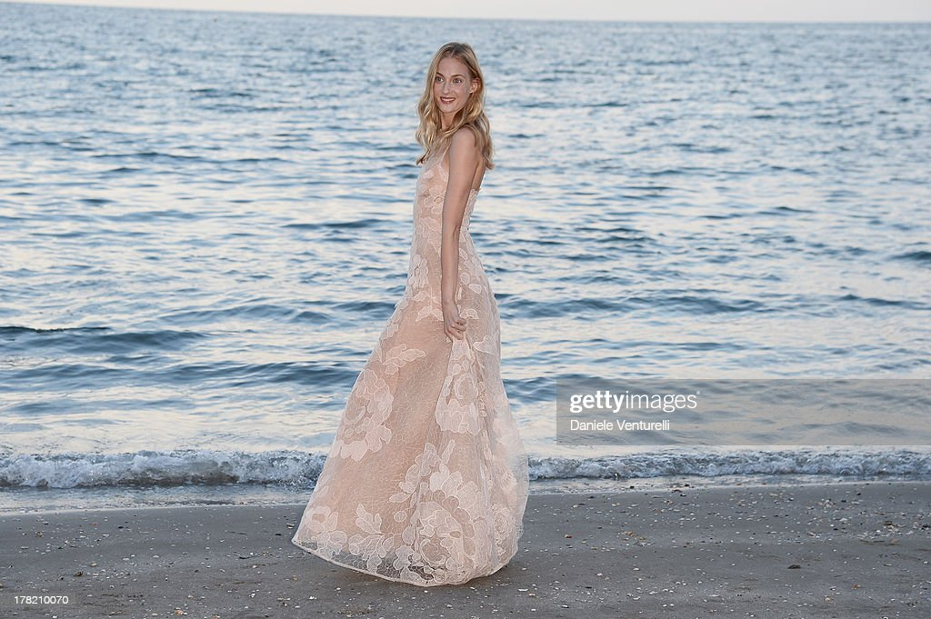 Festival hostess Eva Riccobono attends a photocall during the 70th Venice International Film Festival at the Hotel Excelsior on August 27, 2013 in Venice, Italy.