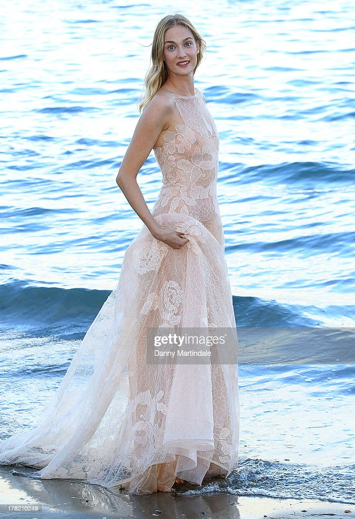 Festival hostess <a gi-track='captionPersonalityLinkClicked' href=/galleries/search?phrase=Eva+Riccobono&family=editorial&specificpeople=885062 ng-click='$event.stopPropagation()'>Eva Riccobono</a> attends a photocall during the 70th Venice International Film Festival at the Hotel Excelsior on August 27, 2013 in Venice, Italy.