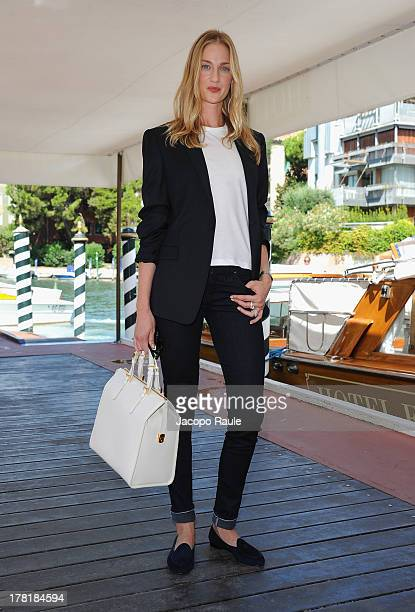 Festival hostess Eva Riccobono is seen during the 70th Venice International Film Festival on August 27 2013 in Venice Italy