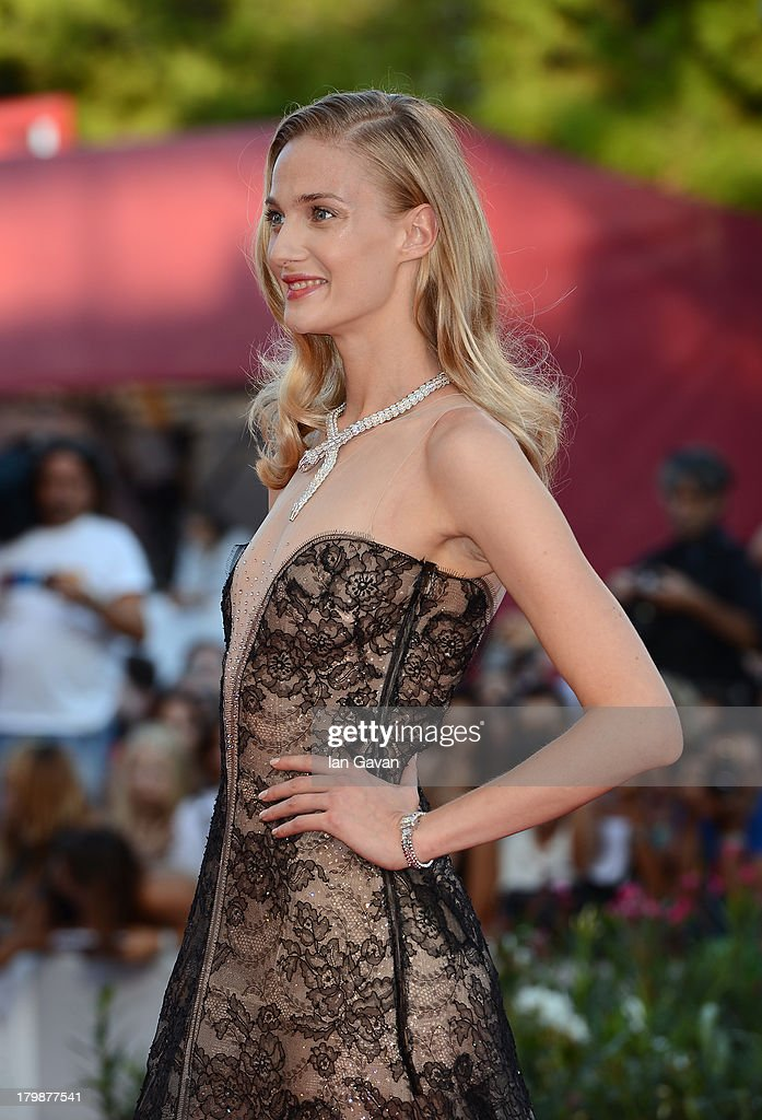 Festival hostess <a gi-track='captionPersonalityLinkClicked' href=/galleries/search?phrase=Eva+Riccobono&family=editorial&specificpeople=885062 ng-click='$event.stopPropagation()'>Eva Riccobono</a> wears a Jaeger-LeCoultre Vintage Couvercle watch on the red carpet during the Closing Ceremony of the 70th Venice International Film Festival at Palazzo del Cinema on September 7, 2013 in Venice, Italy.