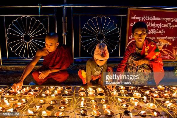 Festival Of Candles Golden Rock Kyaiktiyo Myanmar