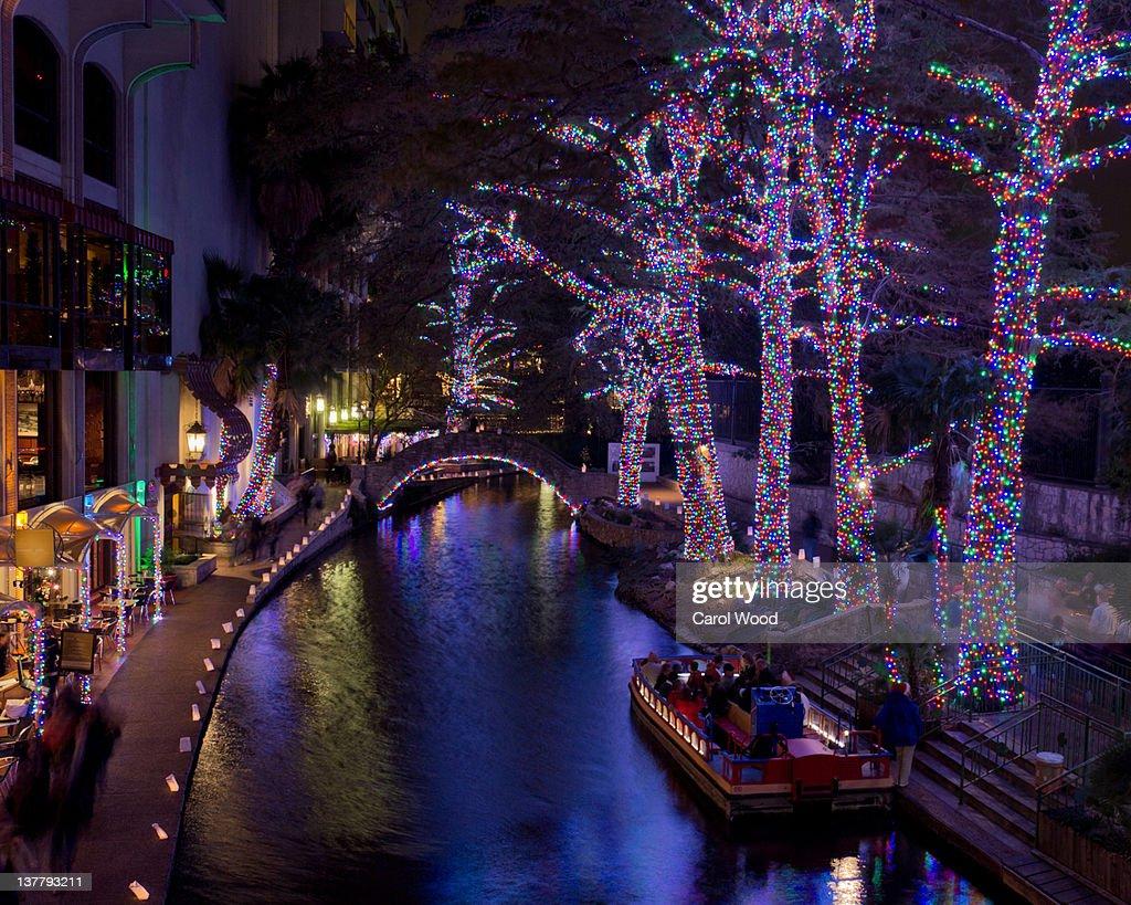 Festival Of Lights At San Antonio River. Christmas ...