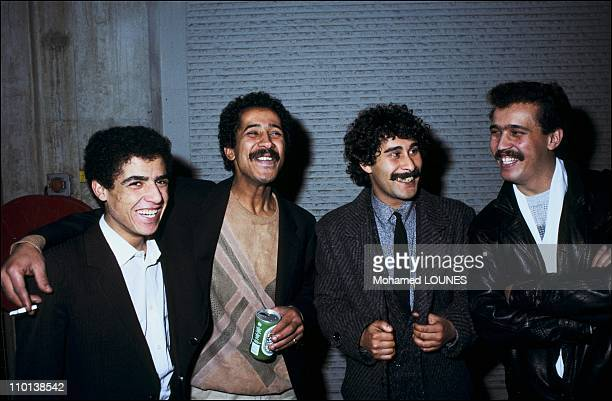 Festival of the rai in Paris in Bobigny France in January 25 1986 Cheb Mami cheb Khaled