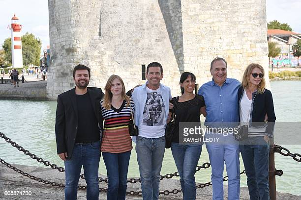 Festival of TV fiction of La Rochelle's jury members Erwann Kermorvant Isabelle Carre Francois Velle Elsa Marpeau Jean Nainchrik and Pascale Arbillot...