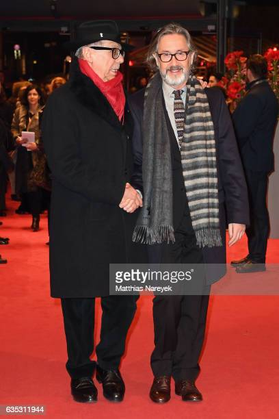Festival president Dieter Kosslick and Director Martin Provost attend the 'The Midwife' premiere during the 67th Berlinale International Film...