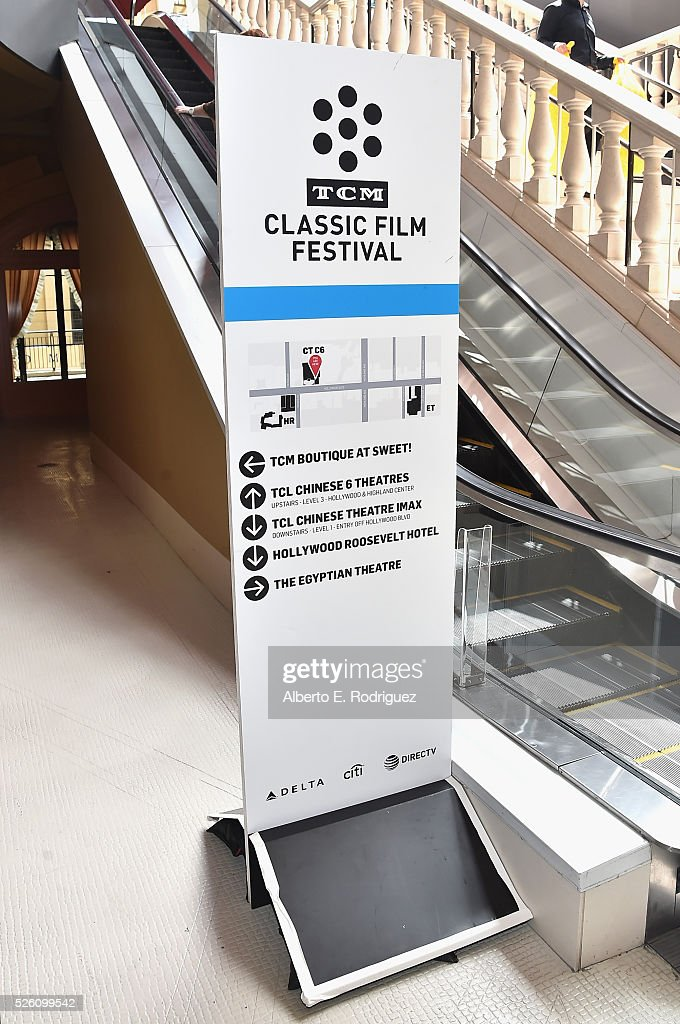 Festival signage on display at the 'Lassie Come Home' during day 2 of the TCM Classic Film Festival 2016 on April 29, 2016 in Los Angeles, California. 25826_006
