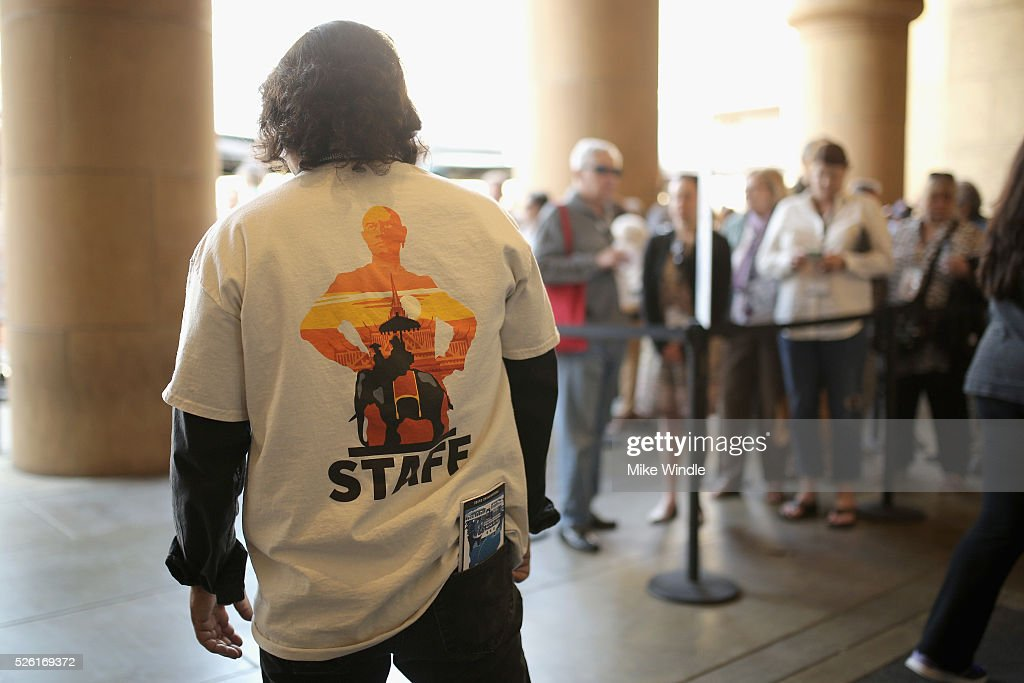 A festival staff member is seen during day 2 of the TCM Classic Film Festival 2016 on April 29, 2016 in Los Angeles, California. 25826_008