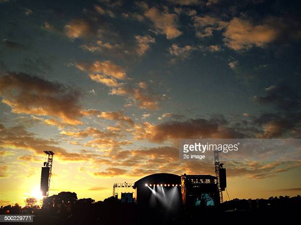 Festival stage at sunset Stone Roses Phoenix park Dublin