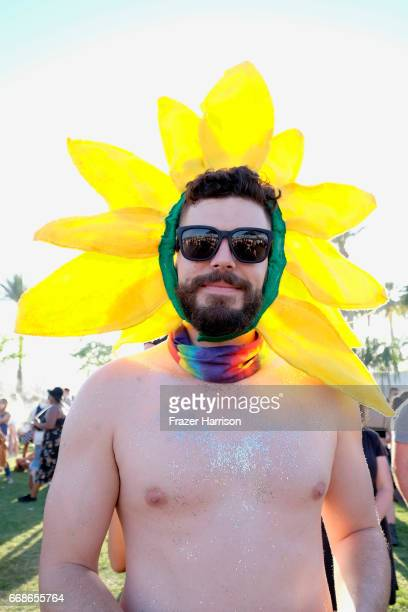 Festivalgoer attends day 1 of the 2017 Coachella Valley Music Arts Festival Weekend 1 at the Empire Polo Club on April 14 2017 in Indio California