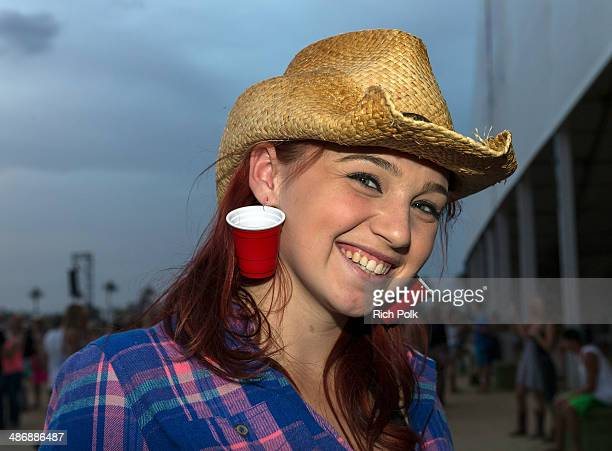 Festivalgoers are seen during day 1 of 2014 Stagecoach California's Country Music Festival at the Empire Polo Club on April 25 2014 in Indio...