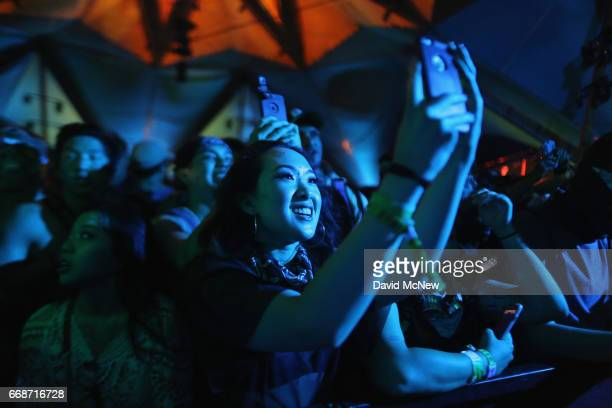 Festivalgoers are seen during day 1 of the Coachella Valley Music And Arts Festival at the Empire Polo Club on April 14 2017 in Indio California
