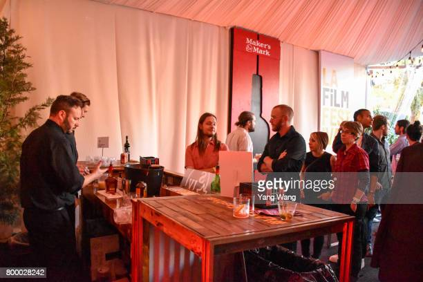 Festivalgoers attend Acoustic Night during the 2017 Los Angeles Film Festival at the Festival Lounge on June 21 2017 in Culver City California