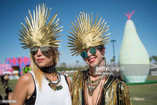 Festivalgoers attend Coachella Valley Music And Arts Festival at Empire Polo Club on April 16 2017 in Indio California