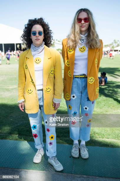 Festivalgoers attend Coachella Valley Music And Arts Festival at Empire Polo Club on April 16 2017 in Indio California