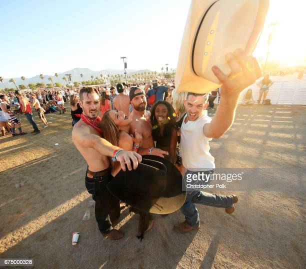 Festivalgoers attend day 2 of 2017 Stagecoach California's Country Music Festival at the Empire Polo Club on April 29 2017 in Indio California