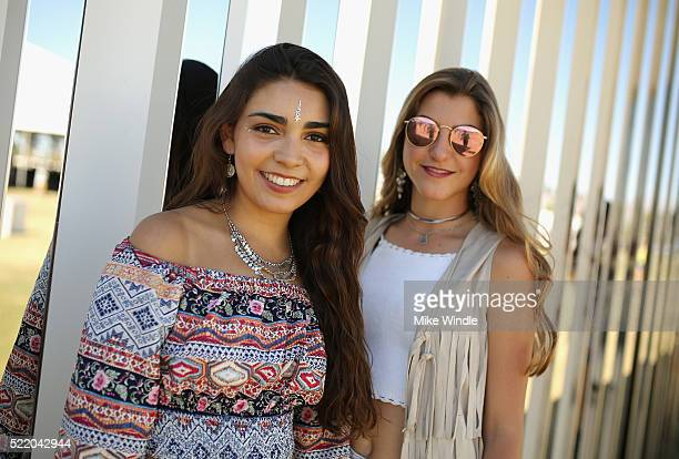 Festivalgoers attend day 3 of the 2016 Coachella Valley Music Arts Festival at the Empire Polo Club on April 17 2016 in Indio California