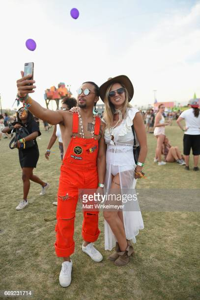 Festivalgoers attend day 3 of the 2017 Coachella Valley Music Arts Festival Weekend 1 at the Empire Polo Club on April 16 2017 in Indio California